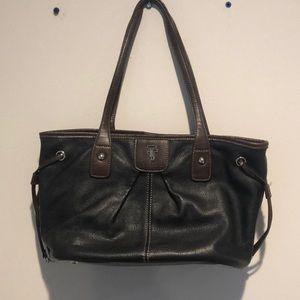 Tignanello tote bag  brown and tan leather